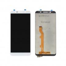 Pantalla completa LCD y táctil color blanco para Alcatel 1C 5009