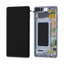 Pantalla completa LCD y táctil con MARCO para Samsung Galaxy S10 Plus G975F - elige color