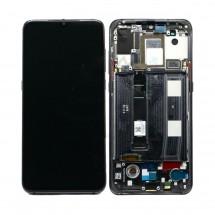 Pantalla completa LCD y táctil color negro CON MARCO para Xiaomi Mi 9 / Mi9