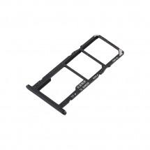 Bandeja porta Sim y MicroSD color negro para Huawei Y5 2018 / Y5 Prime 2018