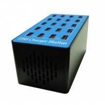 Estación de carga de 100w con 20 puertos USB Autoregulabe - Ventilador refrigerante