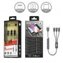 Cable carga 3 en 1 Type-C MicroUSB Lightning - 2A - Ref. OP-B5096 - elige color