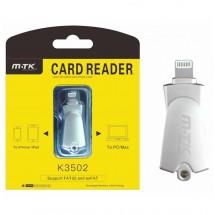 Lector tarjetas memoria para iPhone iPad Mac - Ref. OP-K3502