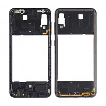 Marco frontal display color negro para Samsung Galaxy A30 A305F
