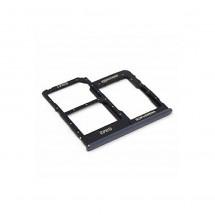 Bandeja porta tarjeta Sim y MicroSD color negro para Samsung Galaxy A40 (A405F)