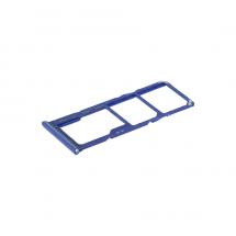 Bandeja tarjeta Sim y MicroSD color Azul para Samsung Galaxy A70 (A705F)