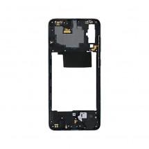 Marco frontal display color negro para Samsung Galaxy A70 (A705F)