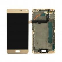 Pantalla completa LCD y tácti con marco Dorado para Lenovo Vibe P1 - P1c72 (swap)