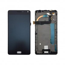 Pantalla completa LCD y tácti con marco negro para Lenovo Vibe P1 - P1c72 (swap)