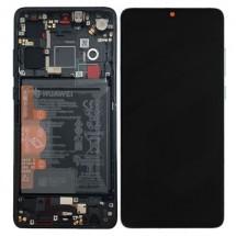Pantalla completa Original conr marco y batería para Huawei P30 Negro