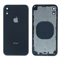 Chasis tapa carcasa central marco con NFC para iPhone XR color negro