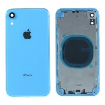 Chasis tapa carcasa central marco con NFC para iPhone XR color azul