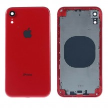 Chasis tapa carcasa central marco con NFC para iPhone XR color Rojo