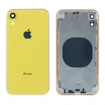 Chasis tapa carcasa central marco con NFC para iPhone XR color amarillo