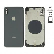 Chasis tapa carcasa central marco con NFC para iPhone XS Max color Negro