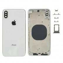 Chasis tapa carcasa central marco con NFC para iPhone XS Max color blanco