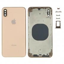 Chasis tapa carcasa central marco con NFC para iPhone XS Max color Dorado