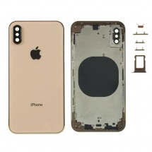 Chasis tapa carcasa central marco con NFC para iPhone XS color Dorado