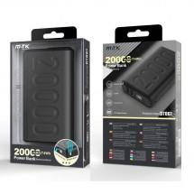 Batería externa PowerBank 20000mAh- 2 USB - Indicador LED - OP-DT858 Negro