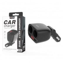 Cargador mechero coche DUAL con display OP-AT863