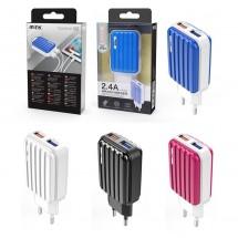 Cargador Dual 2 USB de 2.4A OP-AT881- elige color