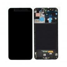 Pantalla completa con marco color negro para Samsung Galaxy A50 A505F (swap)