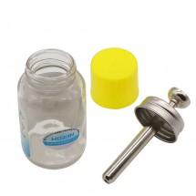 Bote cristal para líquidos - Alcohol Limpiador Removedor - 100ml con dosificador