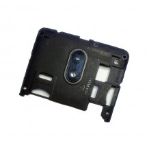 Carcasa intermedia negra con cristal lente cámara para Wiko Jerry 3 (swap)