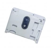 Carcasa intermedia blanca con cristal lente cámara para Wiko Jerry 3 (swap)