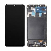 Pantalla completa LCD y táctil con marco Samsung Galaxy A20 A205