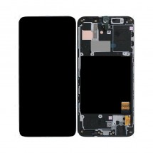 Pantalla completa LCD y táctil con marco negro para Samsung Galaxy A40 (A405F)