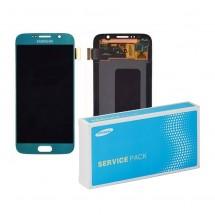 Pantalla ORIGINAL Service Pack completa color Celeste Samsung Galaxy S6 G920F