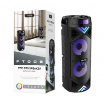 Altavoz Bluetooth con luz - 1200mAh - RadioFM - MicroSD - Kareoke - 2x15W - OP-FT008