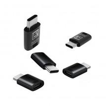 Adaptador 5uds. original Samsung MicroUSB a Tipo-C color Negro