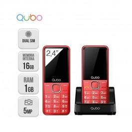 Qubo Xeus Teclas grandes Dual Sim Radio FM - NUEVO (2 años de garantía) Rojo
