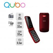 Qubo Osiris Teclas grandes Dual Sim Radio FM - NUEVO (2 años de garantía) Rojo