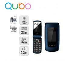 Qubo Osiris Teclas grandes Dual Sim Radio FM - NUEVO (2 años de garantía) Azul
