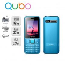 Qubo X229 Dual Sim Radio FM MP3 Linterna - NUEVO (2 años de garantía) Azul