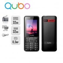 Qubo X229 Dual Sim Radio FM MP3 Linterna - NUEVO (2 años de garantía) Rojo