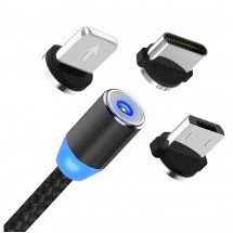 Cable carga magnético 3 en 1 Lightning Tipo-C MicroUSB - NW