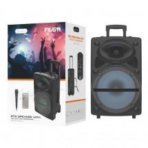 Altavoz Bluetooth Karaoke Luz LED 20W Radio FM MicroSD OP-F6511