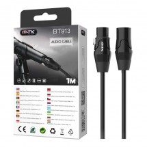 Cable de audio canon para micrófon longitud 1m - OP-BT913