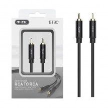 Cable audio cobre RCA macho-macho longitud 1m OP-BT901