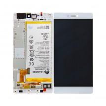 Pantalla completa con marco y batería Huawei Ascend P8 (swap) blanco