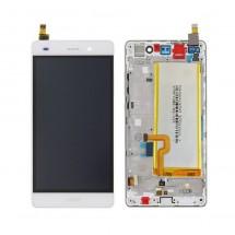 Pantalla Original con marco blanco y batería Huawei P8 Lite (swap)