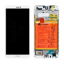 """Pantalla Original con marco y batería Huawei P Smart / Enjoy 7S - 5.65""""  Blanca"""