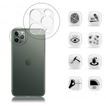 Protector Cristal Templado para cámara trasera iPhone 11 Pro