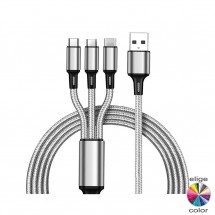 Cable 3 en 1 universal Tipo C - Lightning - MicroUSB NW-FSD1512