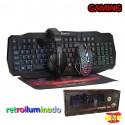 Conjunto Gaming Telcado Retroiluminado Ratón Cascos Xtrike Me CM402X
