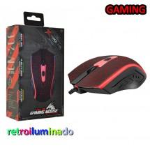 Ratón Gaming Retroiluminado 1200dpi 4 botones Xtrike Me CM-206